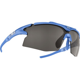 Bliz Tempo M12 Brille, metallic blue/smoke with silver mirror